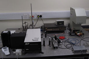 Our solar simulator and quantum efficiency testing station used in the evaluation of organic photovoltaic devices.